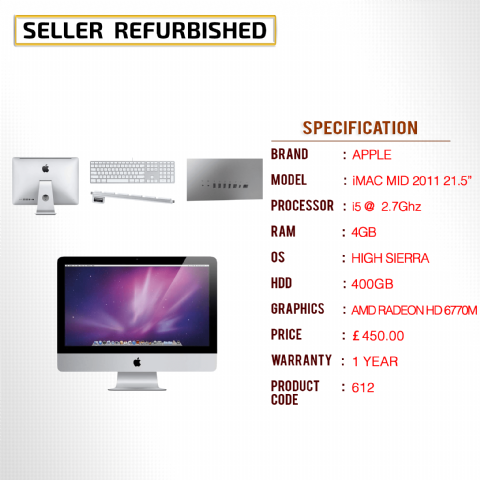 APPLE iMAC MID 2011 21.5